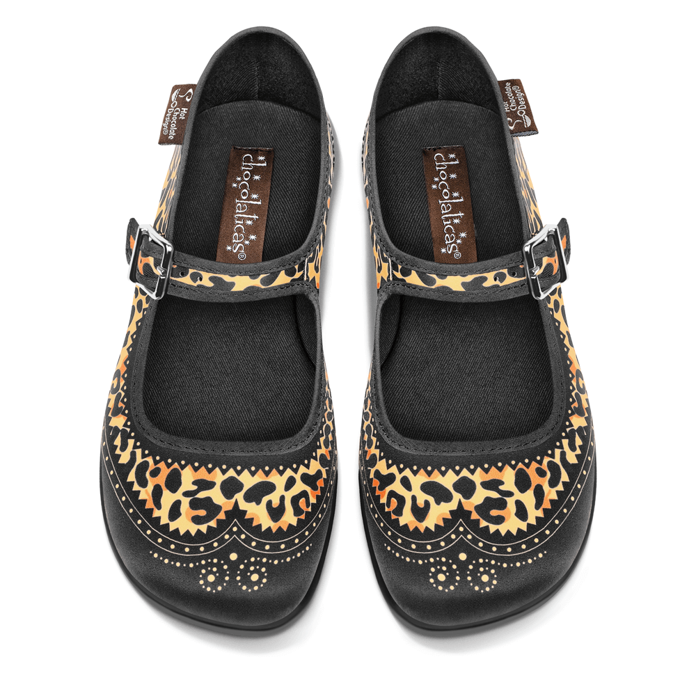 Chocolaticas® Habana Leopard Women's Mary Jane Flat