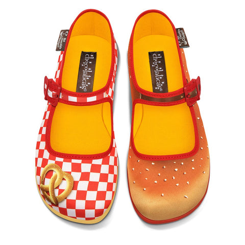 Chocolaticas® Pretzel Women's Mary Jane Flat Shoes