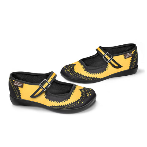 Chocolaticas® Havana Yellow Women's Mary Jane Flat