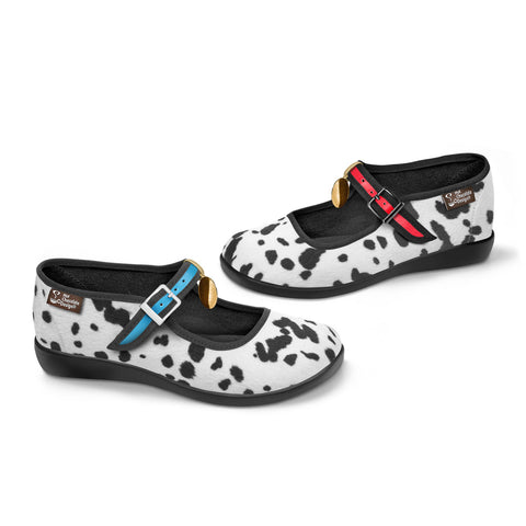Chocolaticas® Dalmatians Women's Mary Jane Flat Shoes