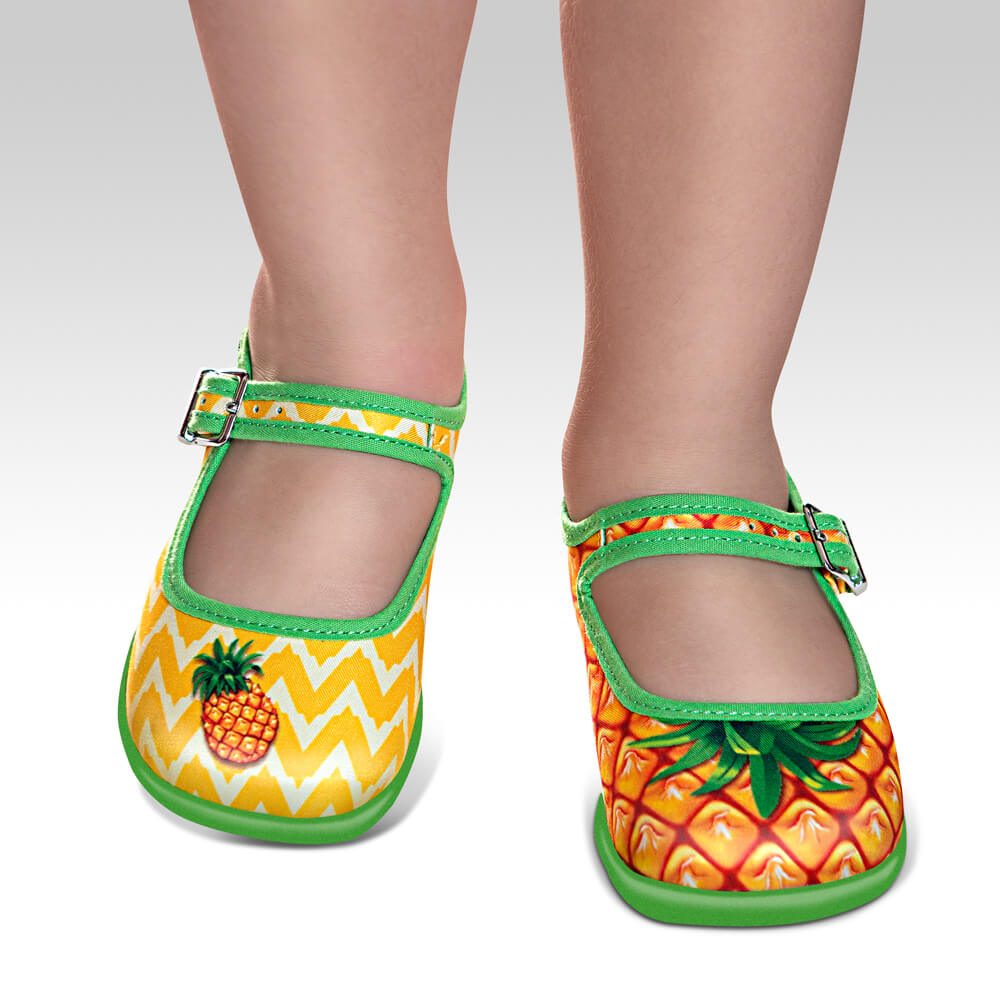 Mini Chocolaticas® Pineapple Girls Mary Jane Flat