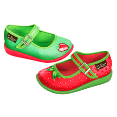 Mini Chocolaticas® Strawberry Girls Mary Jane Flat