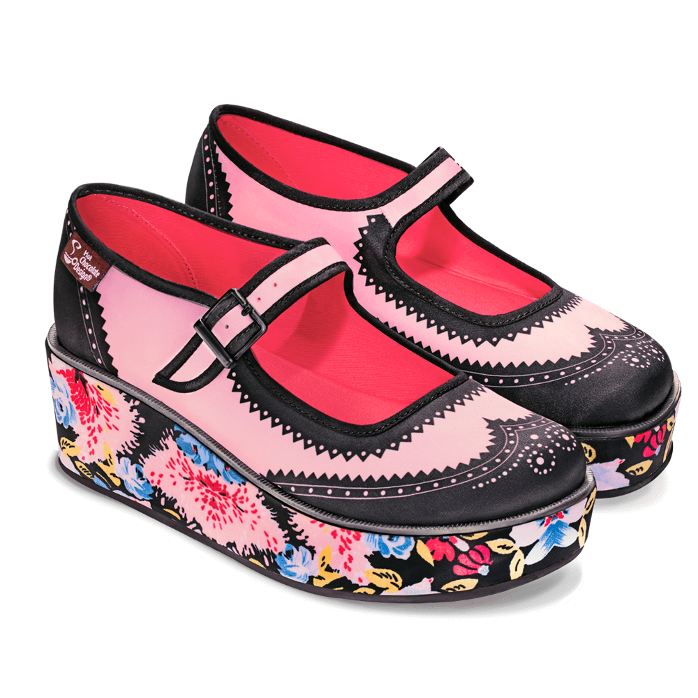 Chocolaticas® Habana Flower Women's Mary Jane Platform