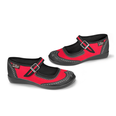 Chocolaticas® Havana Carmine Women's Mary Jane Flat