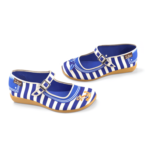 Chocolaticas® Sailor Women's Mary Jane Flat