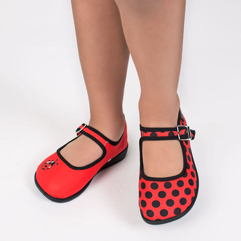Mini Chocolaticas® Ladybug Girls Mary Jane Flat