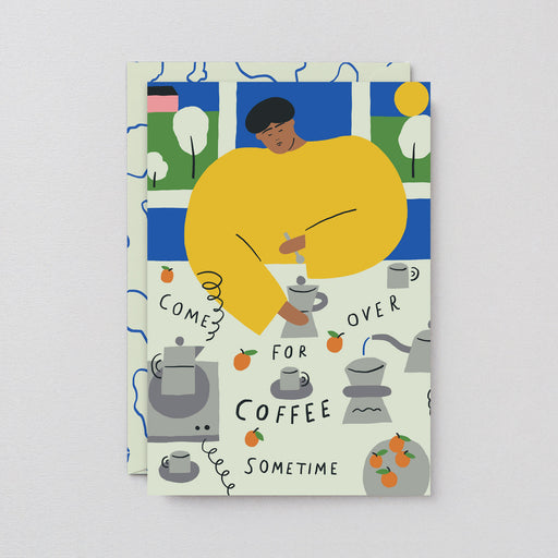 Wrap - 'Coffee Invitation' Art Card