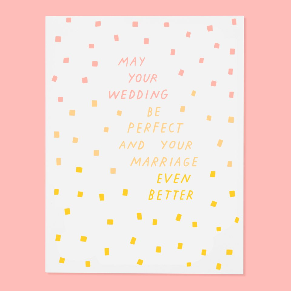 Perfect Wedding Card