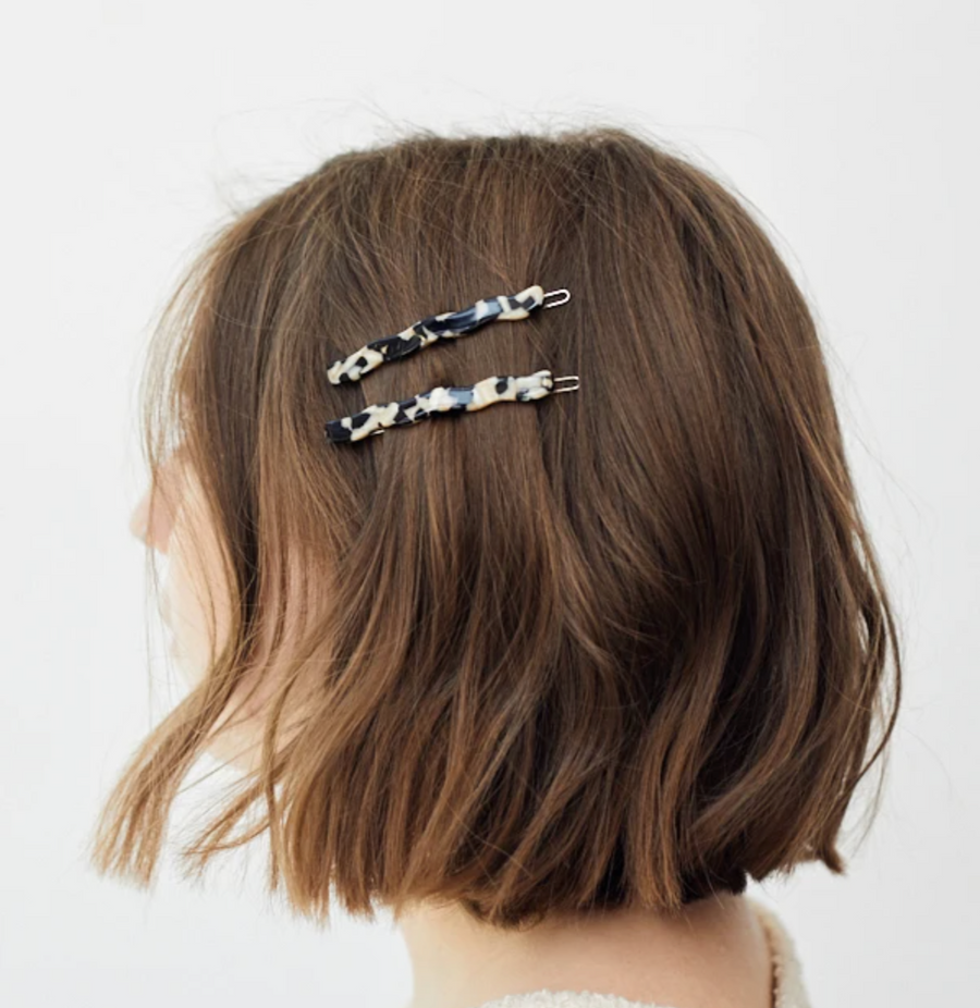 Wavy Clip in Black & Gold
