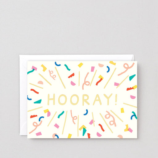 Wrap - 'Hooray Burst' Greetings Card