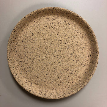 form drip tray in speckled stoneware