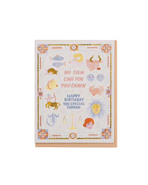 No Sign Birthday Card