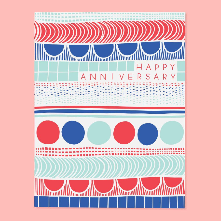 Pattern Anniversary Card