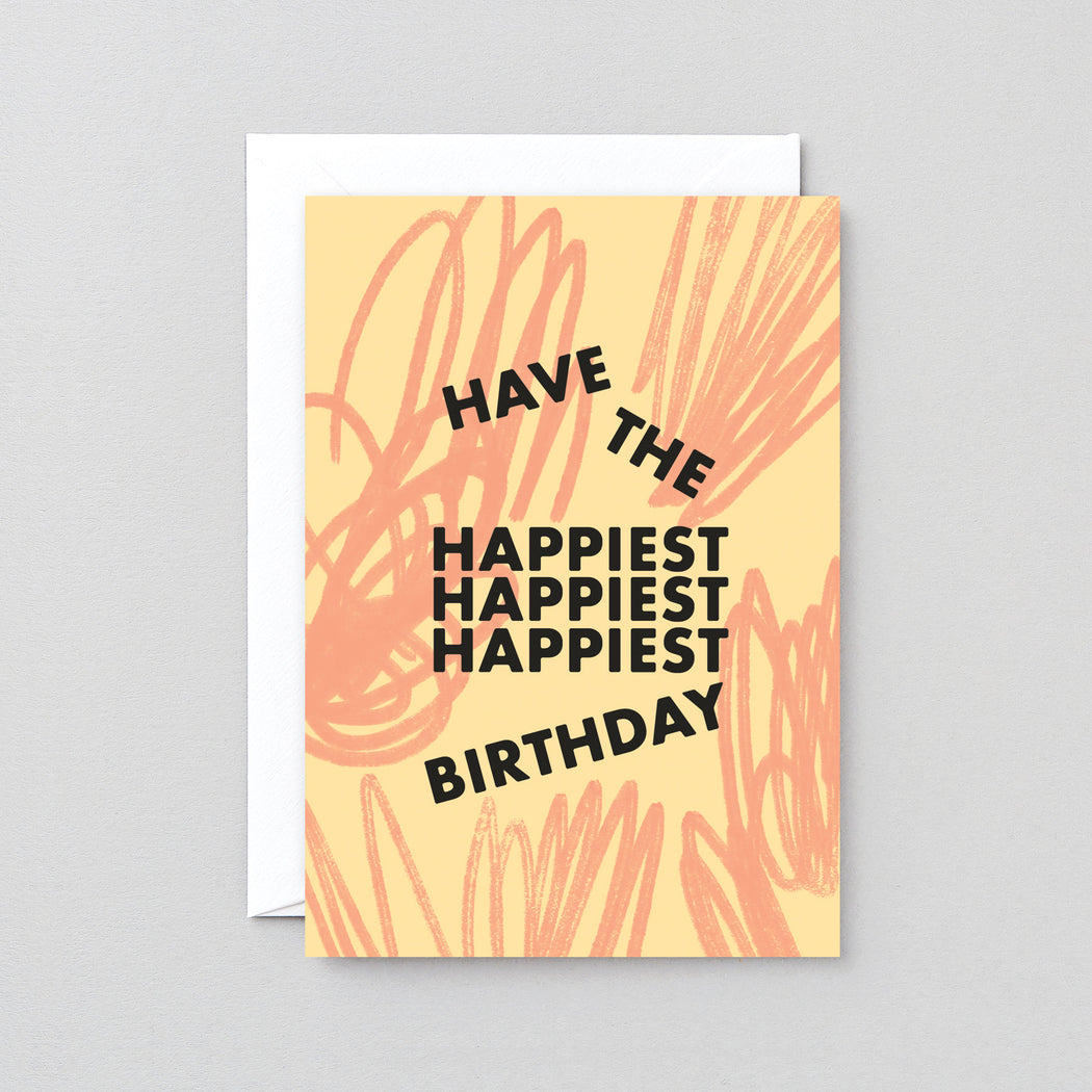 Wrap - 'Happiest Birthday' Greetings Card