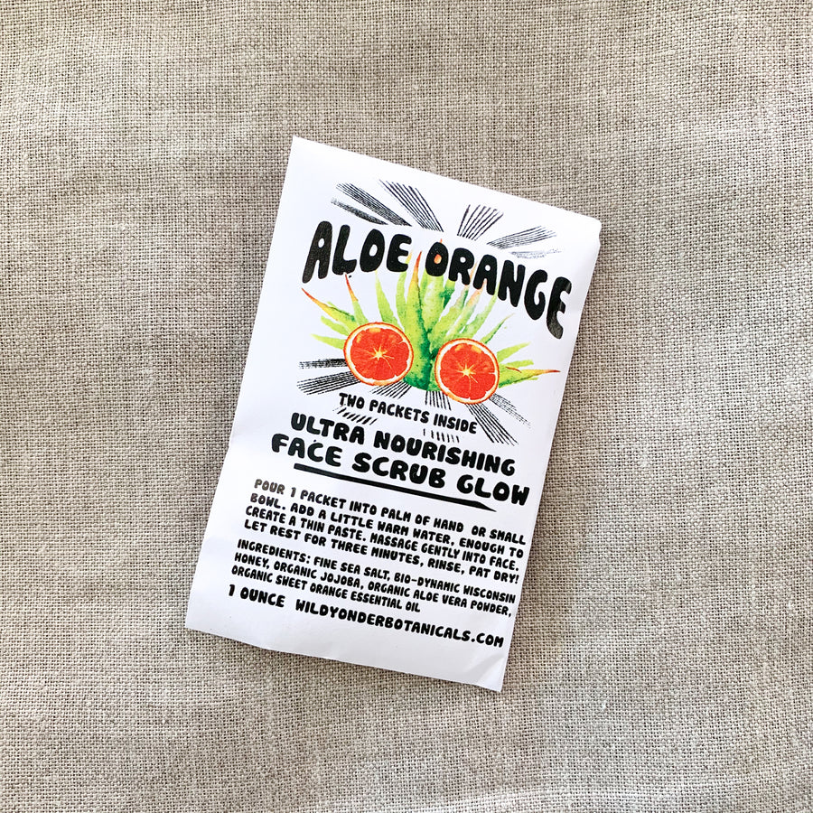 Aloe Orange Face Scrub Glow Mask