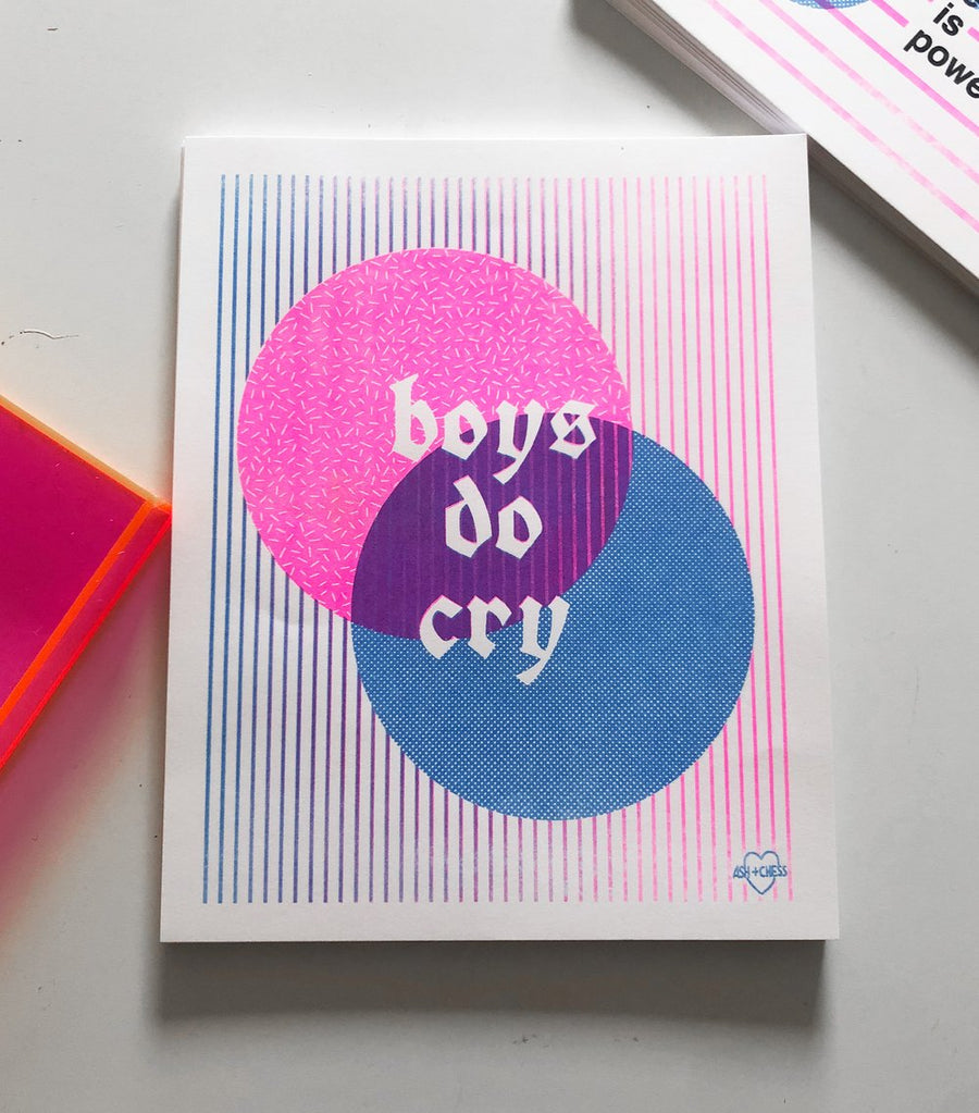 Boys Do Cry Risograph Art Print