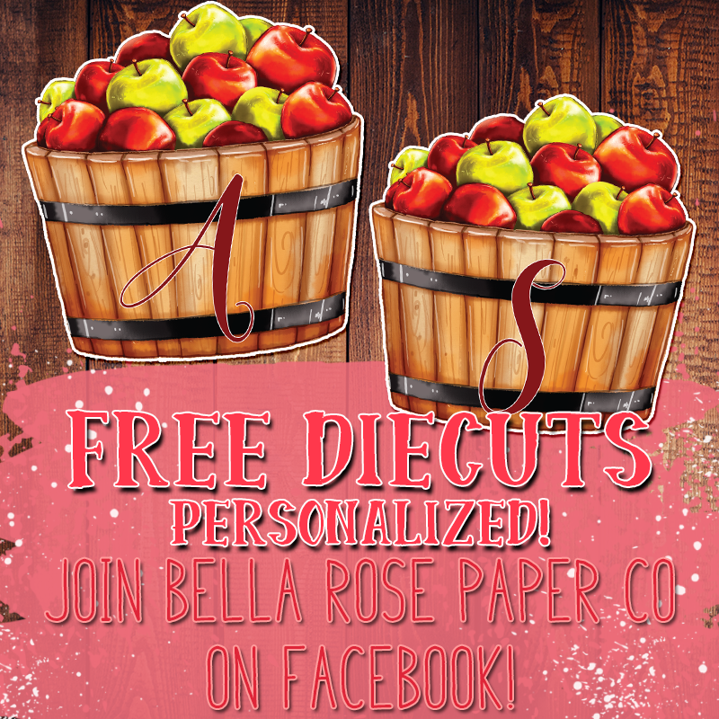 Apple Basket Freebie Diecut