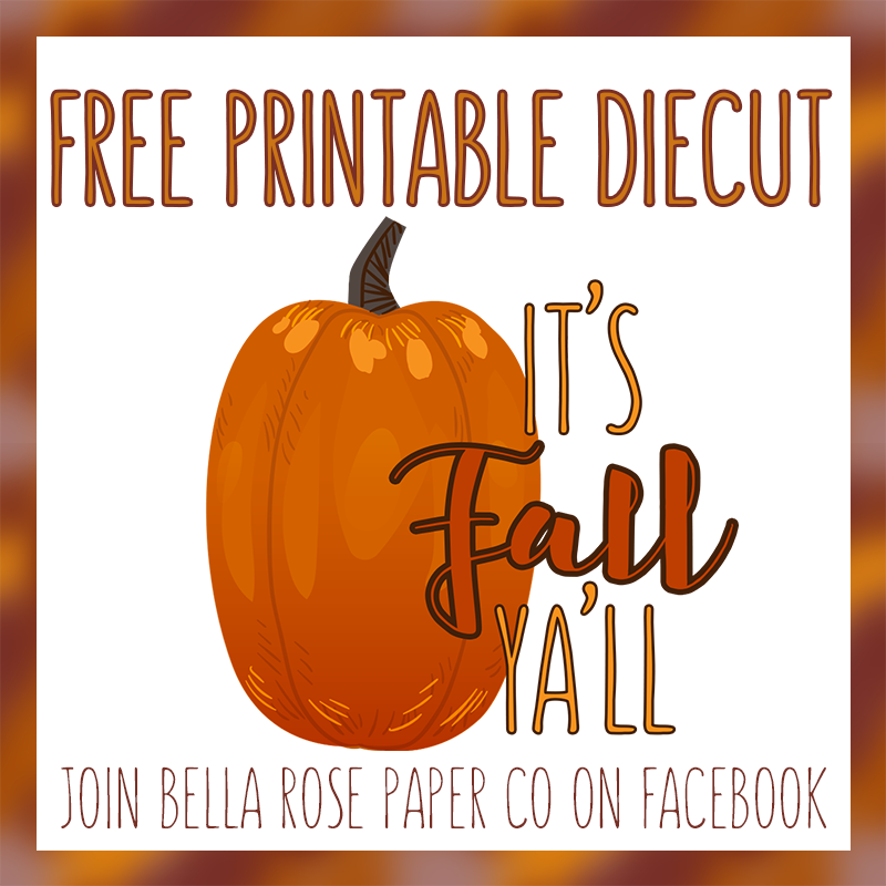 Free Fall Printable Diecut