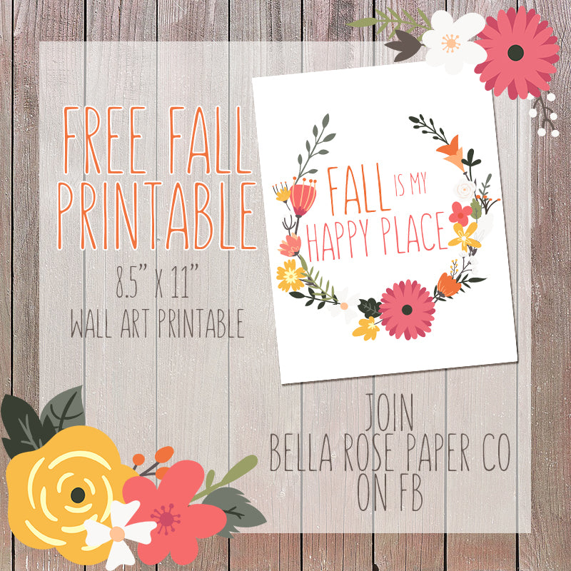 Free Fall Wall Art Printable