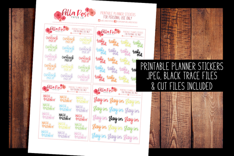 2020 Life Hand Lettered Planner Stickers | PRINTABLE PLANNER STICKERS