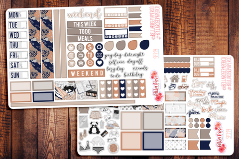 Let's Stay Home Hobonichi Weeks Sticker Kit SP314
