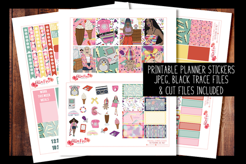 90's Baby Planner Kit | PRINTABLE PLANNER STICKERS