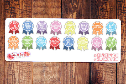 Adulting Reward Planner Stickers BD001