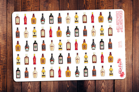 Alcohol Planner Stickers DI117