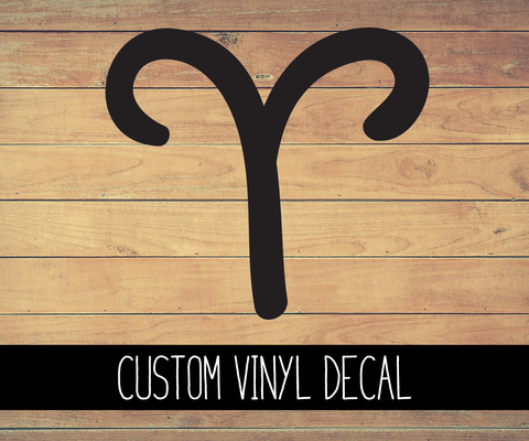 Aries Sign Vinyl Decal