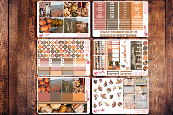 Autumn Days Photo Planner Sticker Kit F401