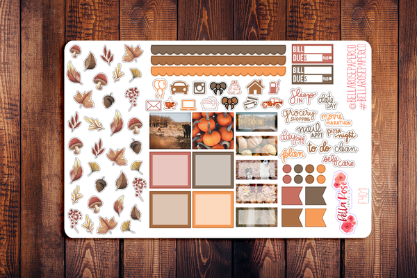 Autumn Days Photo Hobonichi Weeks Sticker Kit F401
