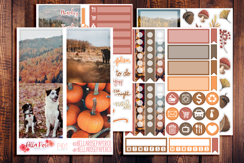 Autumn Days Photo Mini Sticker Kit F401