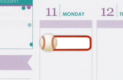 Baseball Game Sports Planner Stickers B007