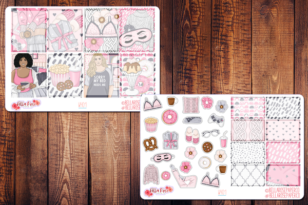 Bed Head Planner Sticker Kit W401
