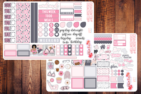 Bed Head Hobonichi Weeks Sticker Kit W401