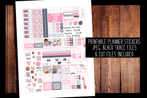Bed Head Hobonichi Weeks Kit | PRINTABLE PLANNER STICKERS