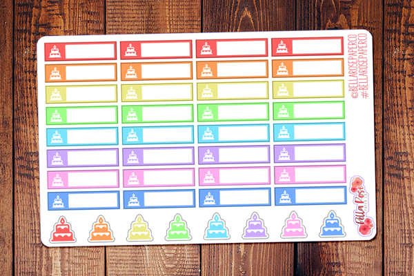 Birthday Label Planner Stickers