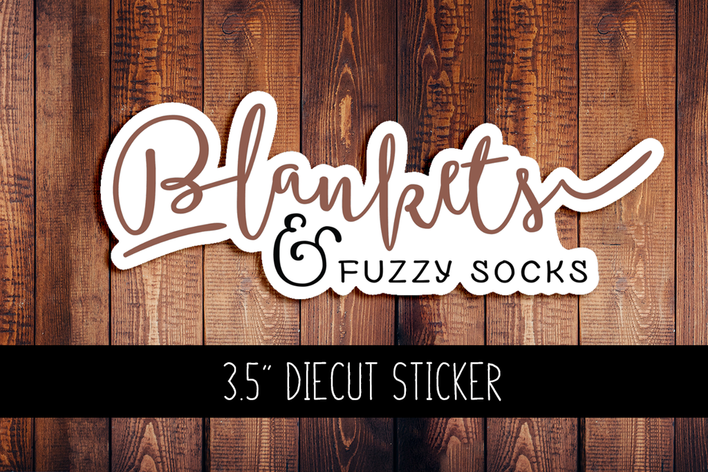 Blankets & Fuzzy Socks Diecut Sticker