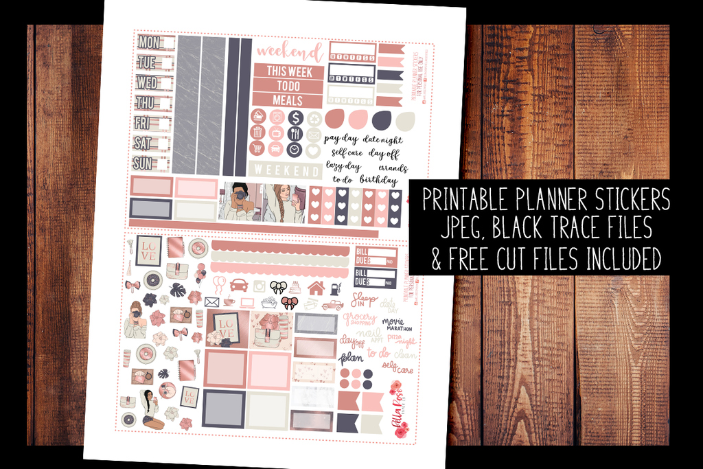 Self Made Hobonichi Weeks Kit | PRINTABLE PLANNER STICKERS