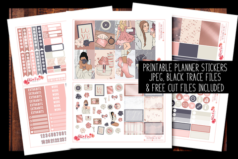 Self Made Planner Kit | PRINTABLE PLANNER STICKERS