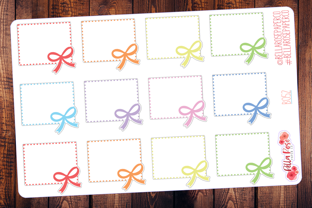 Bow Box Planner Stickers B055