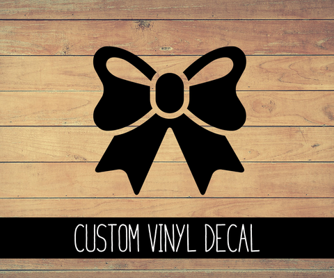 Bow Vinyl Decal