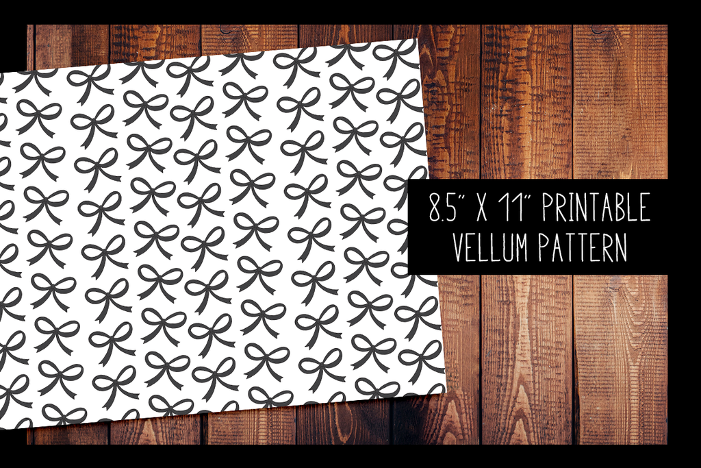 Signature Bow Vellum | PRINTABLE VELLUM PATTERN