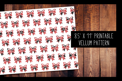 Buffalo Plaid Bow Vellum | PRINTABLE VELLUM PATTERN