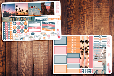 Cali Vibes Photo Mini Happy Planner Sticker Kit SP311