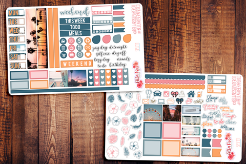 Cali Vibes Photo Hobonichi Weeks Sticker Kit SP311