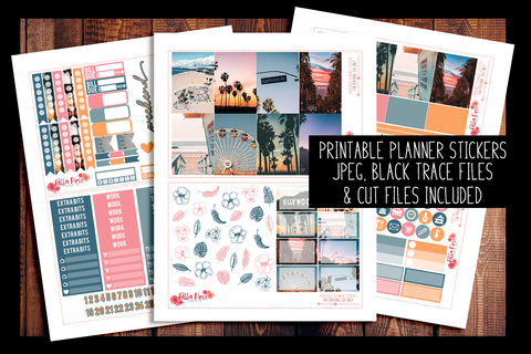 Cali Vibes Photo Happy Planner Kit | PRINTABLE PLANNER STICKERS