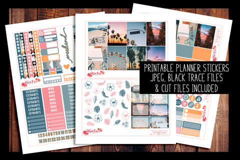Cali Vibes Photo Planner Kit | PRINTABLE PLANNER STICKERS