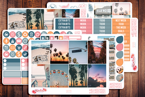 Cali Vibes Photo Planner Sticker Kit SP311