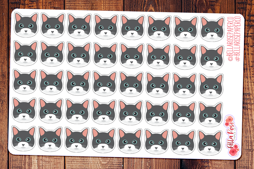Russian Blue Cat Pet Planner Stickers